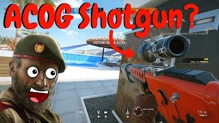 ACOG Shotgun OP in Rainbow Six Siege (TS Gameplay)