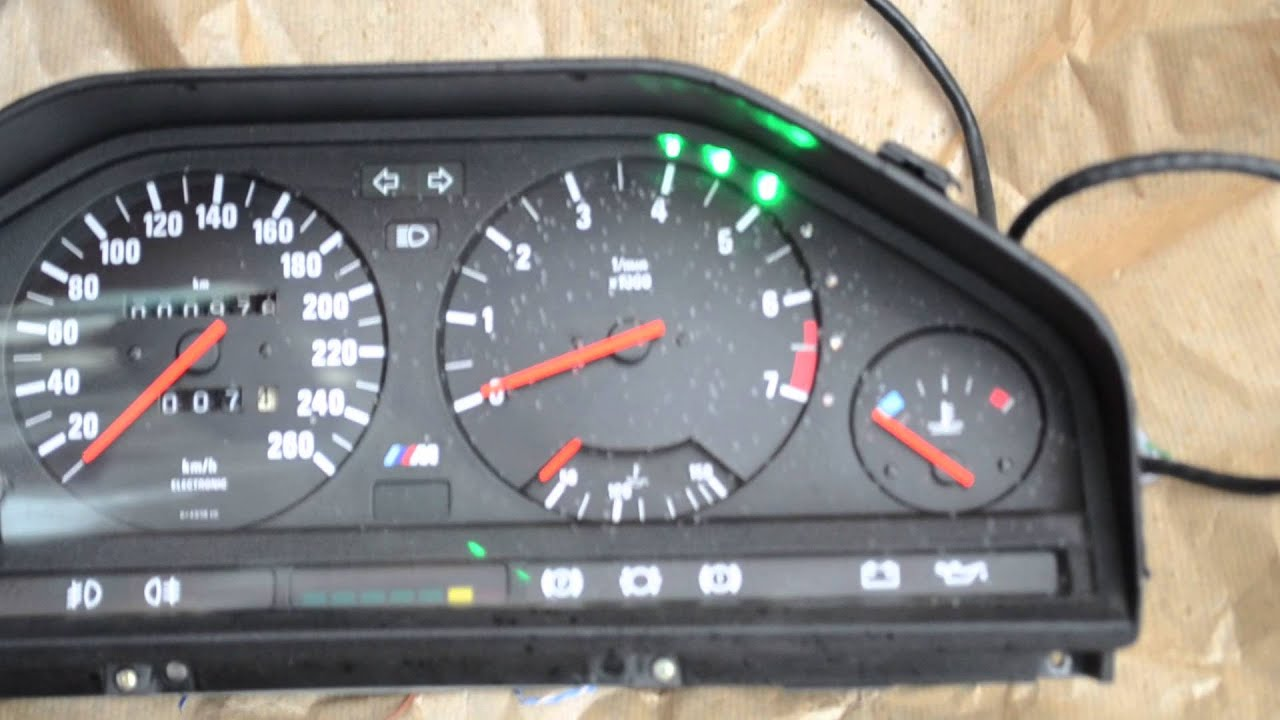 E30 M3 Cluster Oil Custom Switch Light Sri Performance