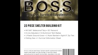 B.O.S.S. Shelter Kit (Stanford Outdoor Supply)