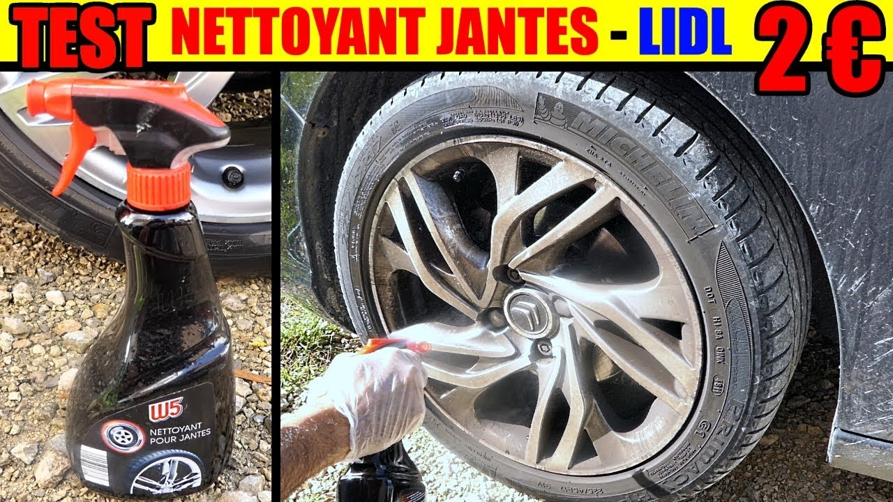 nettoyant jantes w5 lidl test alu nettoyer acier tole voiture rim wheel cleaner felgenreiniger. Black Bedroom Furniture Sets. Home Design Ideas