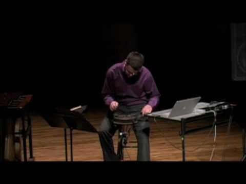 "Andrew Bliss: ""Broken Drum"" by Matthew Burtner for solo percussion + electronics"