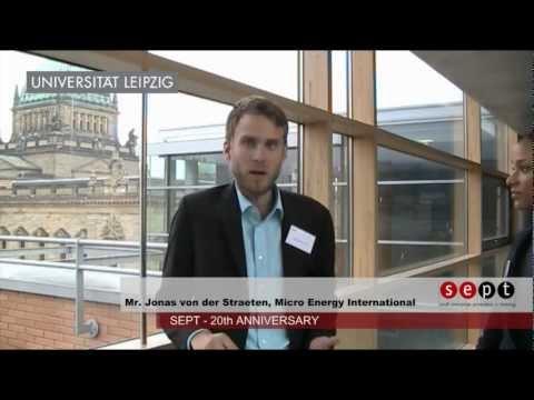 """SEPT 20 Years - Jonas von der Straeten: Energy, making """"sense""""?"""