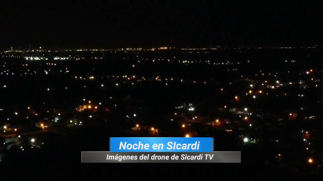 Rincones de mi Barrio: Noche en Sicardi desde el aire