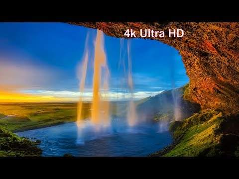 Relaxing and Calming Music with 4K Waterfall Nature