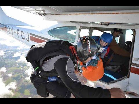 Parachute test jump September 2014