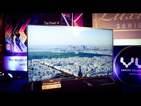 VU 65-75 Inch Pixelight UHD TV, 55-65 Inch Curved UHD TV Hands On Review