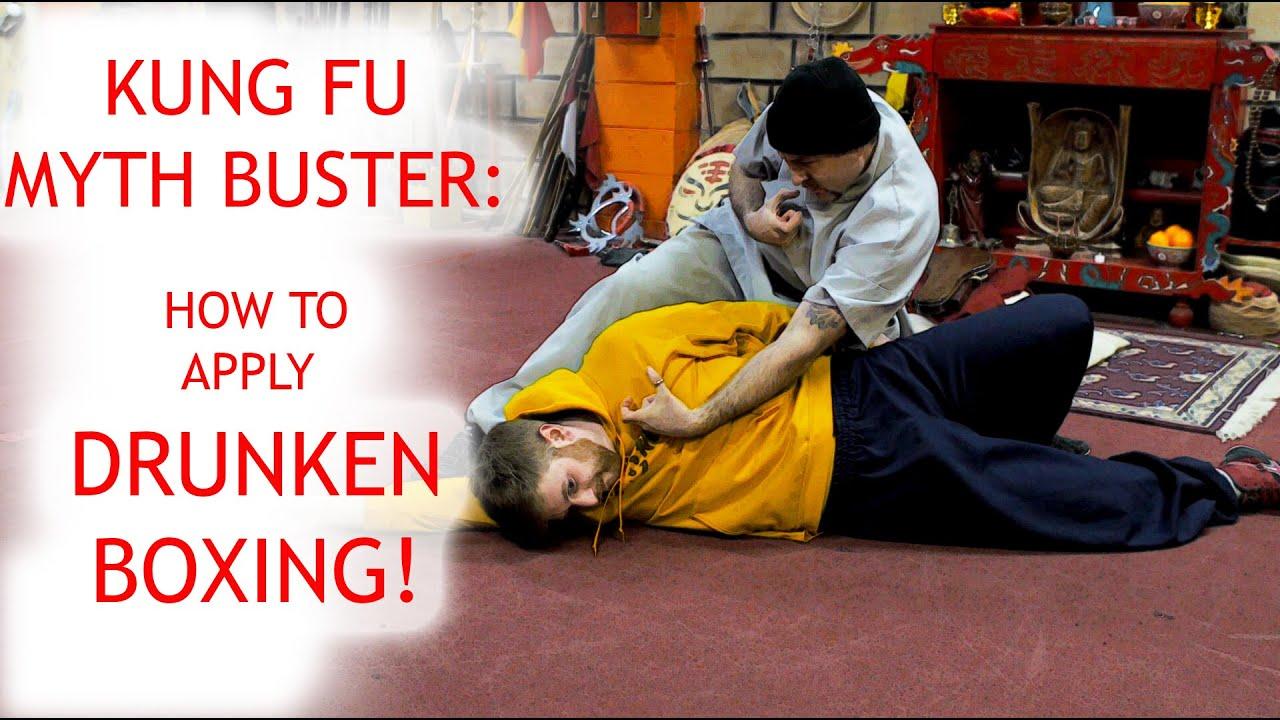 kung fu myth buster apply drunken boxing youtube
