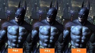 Batman Arkham City And Arkham Asylum: PS4 vs PS3 vs PC Graphics Comparison