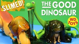 Disney The Good Dinosaur Slimed  Learn Colors And Counting With Slime By WD Toys