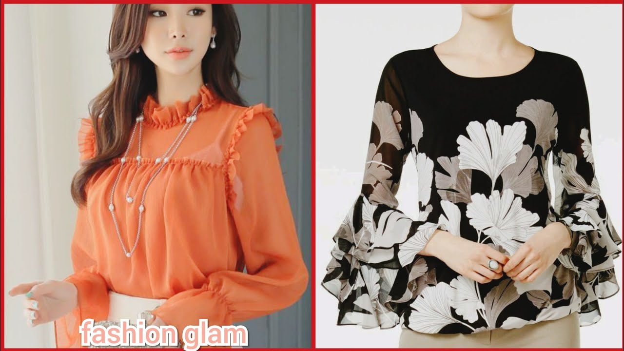 69b4e1ac70eb6b gorgeous chiffon blouse and top styles/blouse sleeves & neck designs ...
