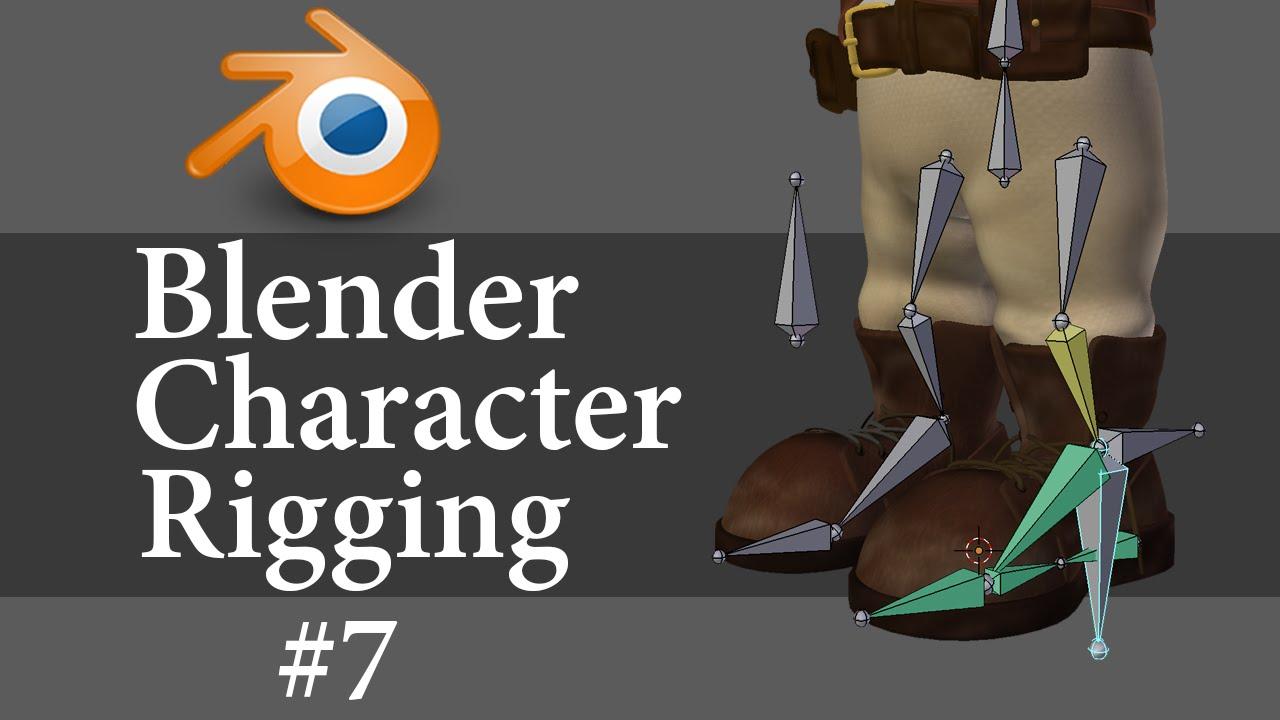 Blender Character Modeling 7 Of 10 : Blender character rigging of youtube