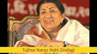 Download lagu Tujhse Naraz Nahi Zindagi - Lata Mangeshkar best early 80's songs