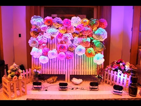Baby Shower Decoration Floral Theme Youtube