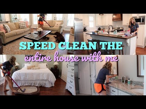 SPEED CLEAN ENTIRE HOUSE // CLEAN WITH ME // MAJOR CLEANING MOTIVATION