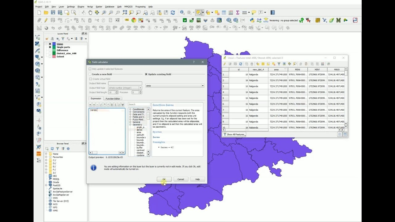 QGIS - Fill gaps and slivers between polygons - Calculate Area - Part V
