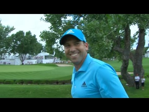 Sergio Garcia holes out for eagle on No. 7 at BMW