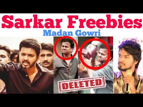 SARKAR Freebies | Tamil | Madan Gowri | MG