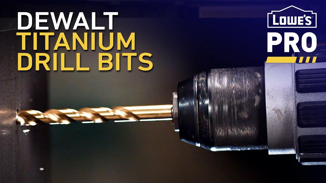 Dewalt Titanium Drill Bits Lowe S Pro Products Youtube