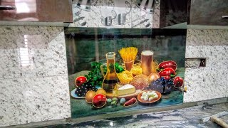 Kitchen Wall Tiles Fruit Design Youtube