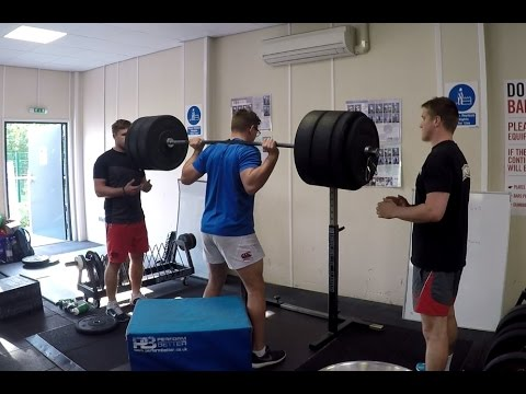 Leeds Beckett university Rugby union pre-season leg day