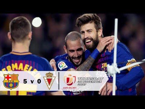 Barcelona vs Murcia 5-0 Copa Del Rey - Barca Pesta Gol tanpa Messi & Suarez | Highlights 30-11-2017