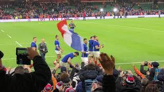 Rugby - Tournoi des Six Nations : le tour d'honneur des Bleus à Cardiff