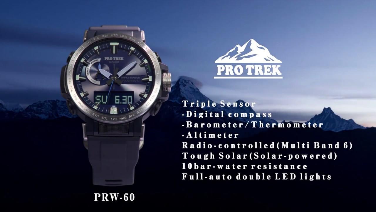 3d07edae1c61 PRO TREK PRW 60 - YouTube
