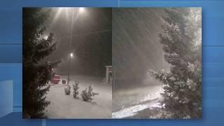 Снег пошел не только в Оренбурге. Жители районов делятся своими фотографиями