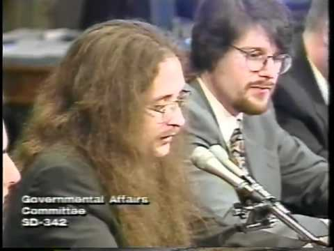 Hackers Testifying at the United States Senate, May 19, 1998 L0pht Heavy Industries