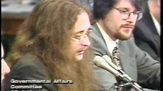 Hackers Testifying at the United States Senate, May 19, 1998 (L0pht Heavy Industries)