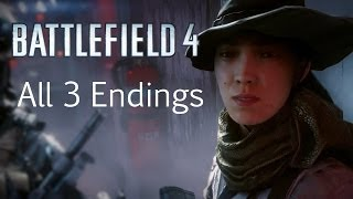 Battlefield 4 - All Ending Cutscenes {Full 1080p HD}