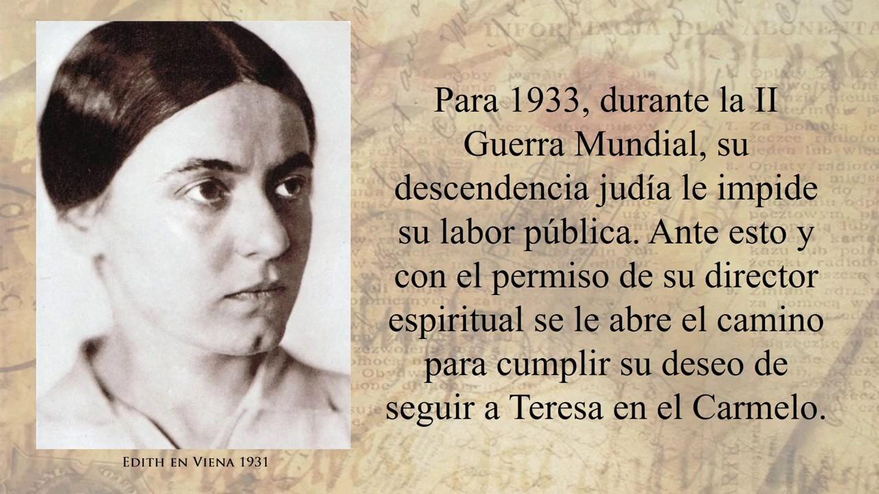 Santa Teresa Benedicta De La Cruz Edith Stein Carmelita Descalza
