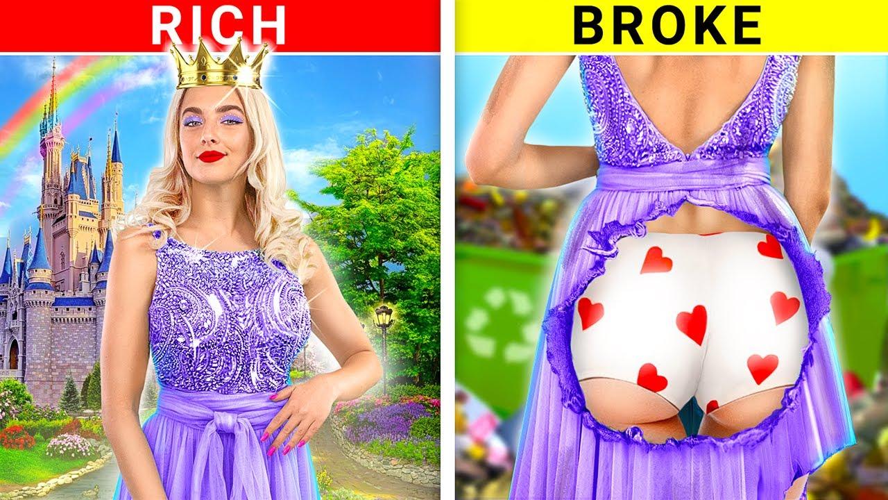 Rich Princess vs Broke Princess Switch Roles!