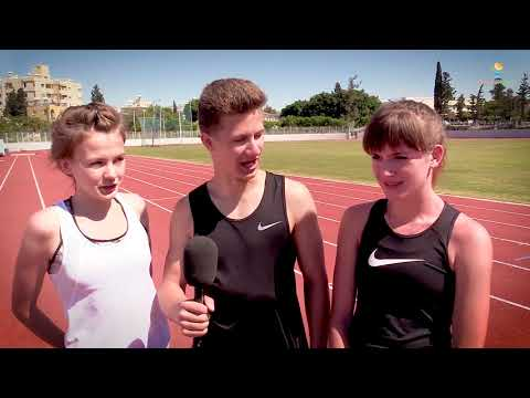 Latvia track and field team in Cyprus with Active Planet