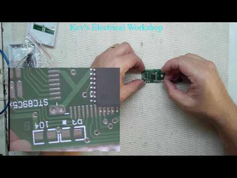 Cross LED Dot Matrix Display Circuit Board Rotating Electronic Kit Part 1