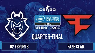 CS:GO - FaZe Clan vs. G2 Esports [Mirage] Map 2 - IEM Beijing 2020 Online - Quarter-final - EU