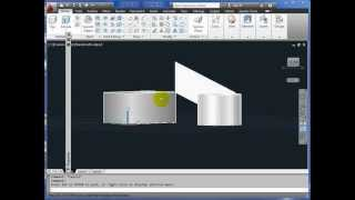 AutoCAD 3D Basics Tutorial Part 1 - Thickness + 3D Faces