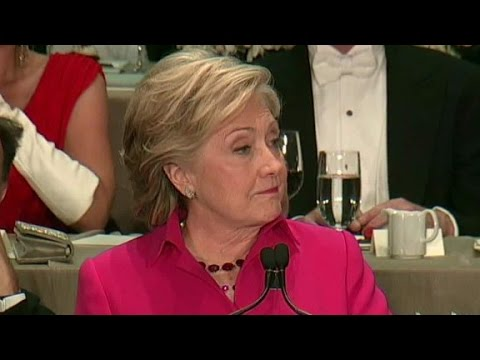 Clinton jabs at Trump's campaign manager