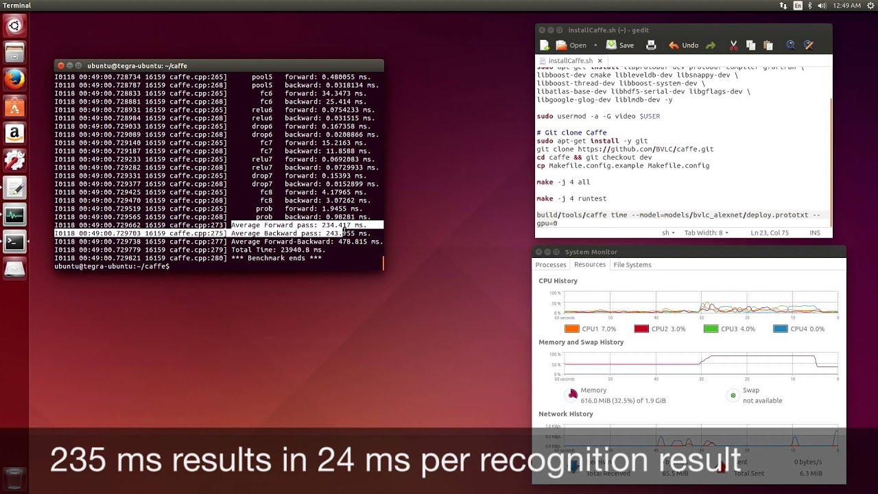 NVIDIA Jetson TK1 - Caffe Deep Learning Framework - YouTube