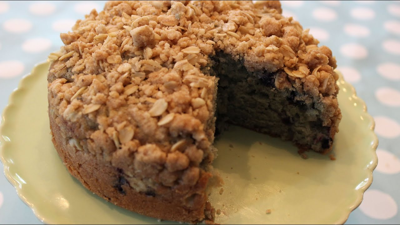 Recipe for blueberry crumble cake