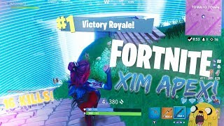 *INTENSE* 16 KILL SOLO WIN! - Fortnite Battle Royale (Xim Apex Gameplay)