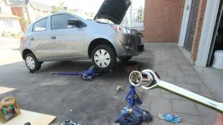 Mitsubishi Mirage Engine Oil Change with Filter Replacement
