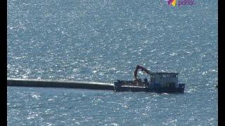 В Сочи приступили к уборке 200-метровой трубы из акватории моря