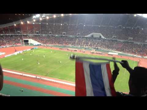 Watching a Football Match in the Rajamangala National Stadium Bangkok