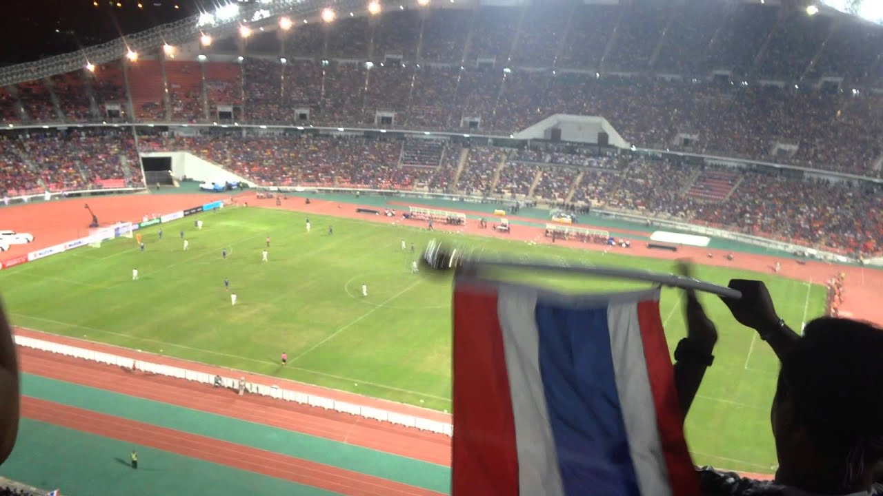 Watching A Football Match In The Rajamangala National Stadium Bangkok Youtube
