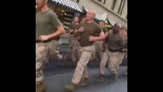 USMC US Marines Motivational Run in NYC at World Trade Center Memorial
