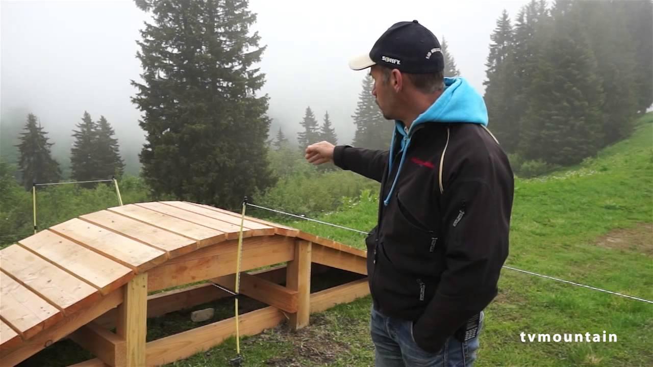 Construction du parcours vtt les clarines aux contamines youtube - Module de construction ...
