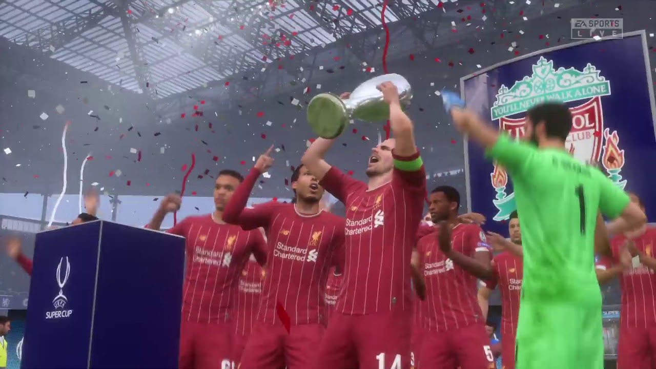 Fifa 20 UEFA Super Cup Final PS4 Pro gameplay