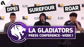 LA Gladiators Press Conference | Overwatch League Season 2 Stage 1 Week 1