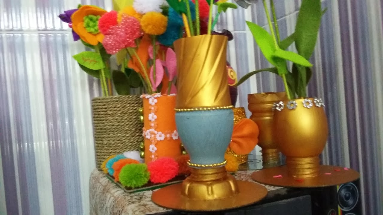 How to make flower pot out of waste for Flower pot making with waste material